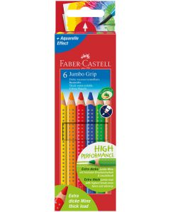 Faber-Castell GRIP 2001 Colour Pencils (Box of 6 Colours)