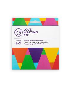 Love Writing Co. Ages 6-9 - Writing Pencils – Jumbo Pack of 32