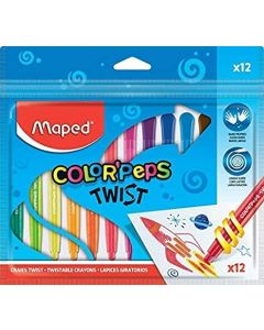Maped Color'Peps Twist Colouring Crayons (Pack of 12)