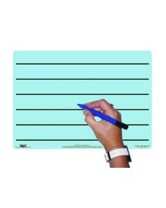 A4 Tinted Dry-Wipe Board/Pen/Bag - Blue/Lined