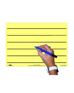 A4 Tinted Dry-Wipe Board/pen Yellow/Lined