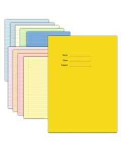 """9"""" x 7"""" Tinted Paper Exercise Book"""