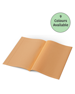 Tinted Exercise Books - A4 10mm Lined (Yellow Cover)