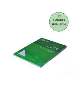 A4 8mm Lined Coloured Paper Refill Pad