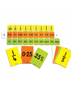 Fraction, Decimal & Percentage Cards (30 card set)