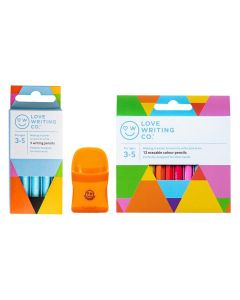 Love Writing Co. Ages 3-5 - Writing and Colouring Pencil Bundle