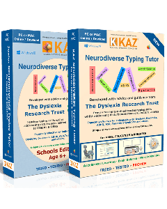 KAZ SEN/Dyslexia Typing Tutor – Digital Download - Adult Windows OS