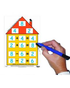 Number Facts House - Addition/Subtraction (Pack of 5 with free dry-wipe pen)