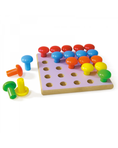 Peg Board with Large Pegs