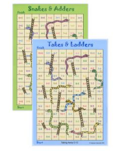 Snakes & Adders / Takes & Ladders (0-10)