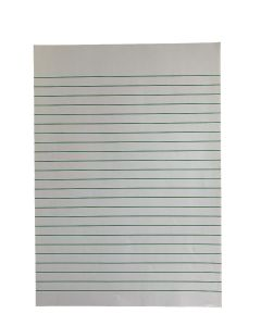 A4 Raised Line Handwriting Paper With Narrow Lines