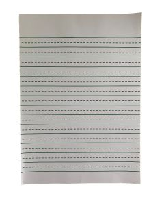 A4 Raised Line Handwriting Paper With Wide Lines
