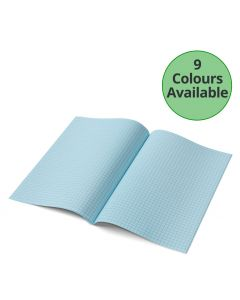 A4 - 7mm Squared Tinted Paper - Exercise Books (Red Cover)