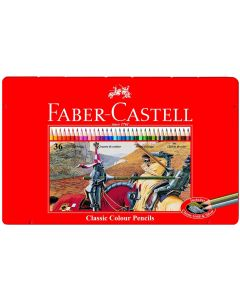 Faber-Castell 36 Classic Colour Pencils in Wooden Case