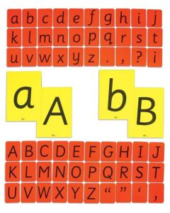 Child's Alphabet Cards - Lower Case Red