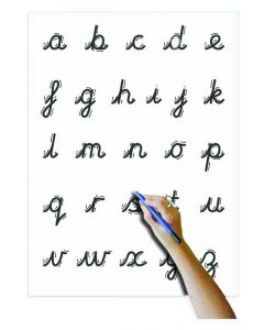 A4 Whiteboard, Pen, Erasing Felt & Bag - Cursive Letter Formation
