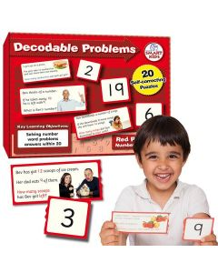 Decodable Word Problems (four operations) to 20