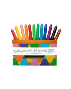 Love Writing Co. Washable Arty Crayons - Pack of 12