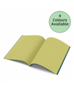 A4 - 10mm Squared Tinted Exercise Book - (Blue Cover)